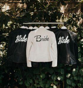 unique bridal party leather jackets